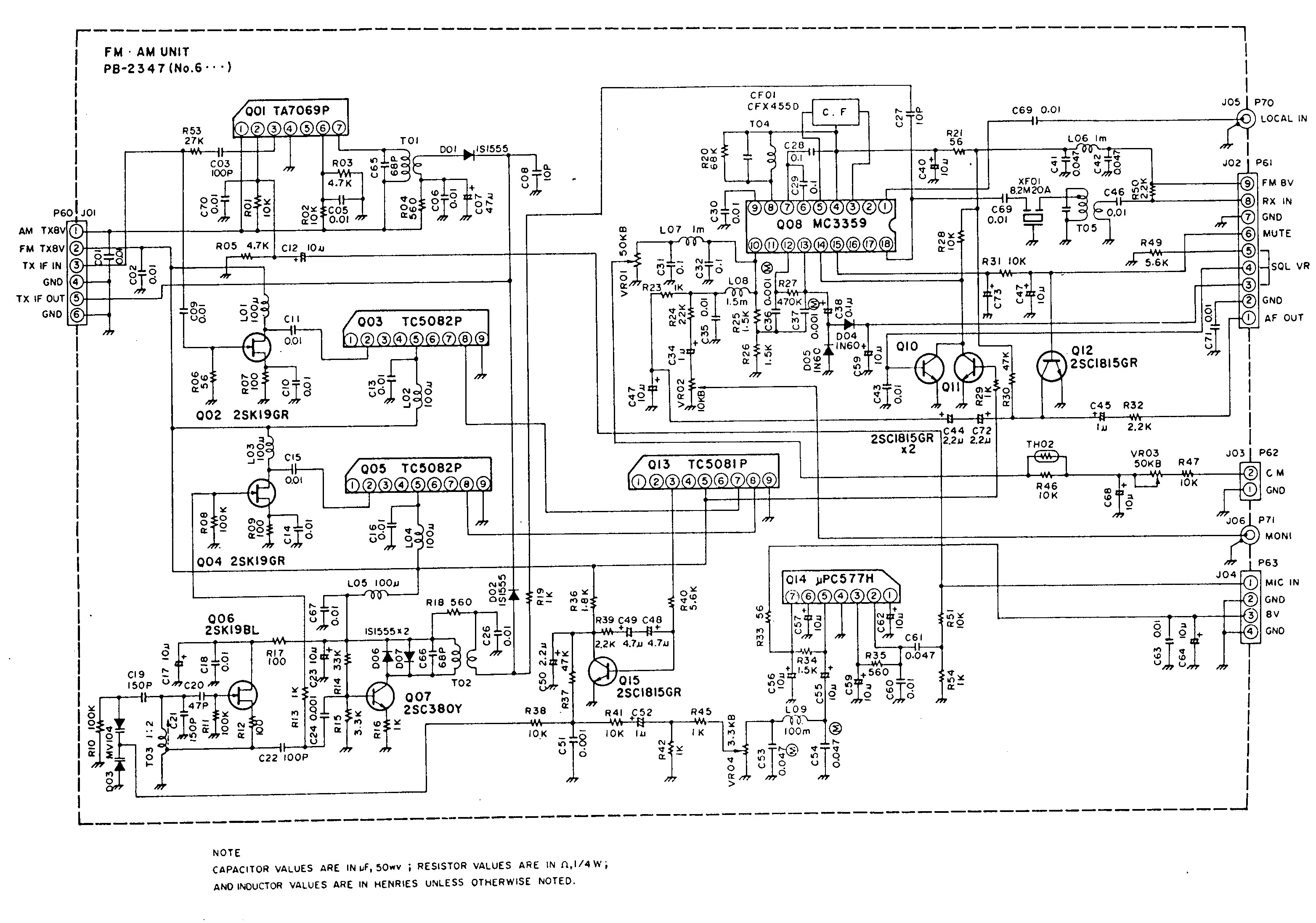 Ft 102 Circuit Boards By W4clm Fox Tango International Dc Power Supply For Ham Radio Transceivers Using Ic7812 Pb 2347 Optional Am Fm Unit